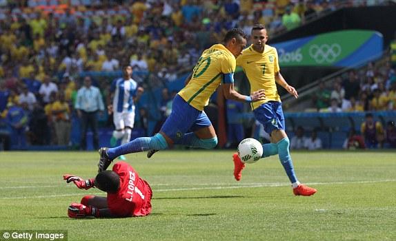 Футболисты сборной Бразилии пробились вфинал Олимпиады, разгромив Гондурас